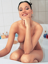 Natural Babe Helena Saved by the Plumber In Her Hot Bathtub pictures at find-best-babes.com