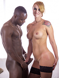 Elen Million, MILF and Busty Enjoys in her First Interracial pictures at freekilomovies.com