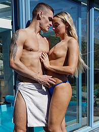 Gorgeous MILF Victoria Pure gets her pussy hammered poolside pictures at find-best-hardcore.com