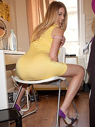 Bailey Helen In Yellow And Heels pictures at freekiloclips.com