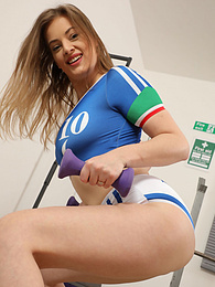 Lottii Rose from Only-Sportswear in a sexy football outfit pictures at freekilomovies.com