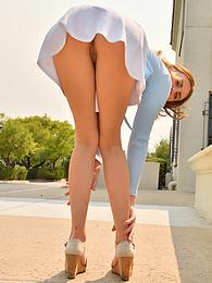 Selina - pretty in a miniskirt pictures at kilovideos.com